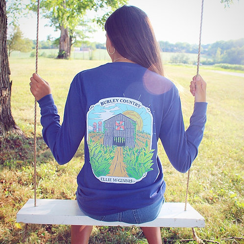 Burley Country Long Sleeve on China Blue