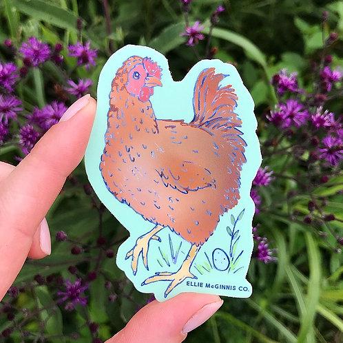 Chicken Hen Vinyl Sticker
