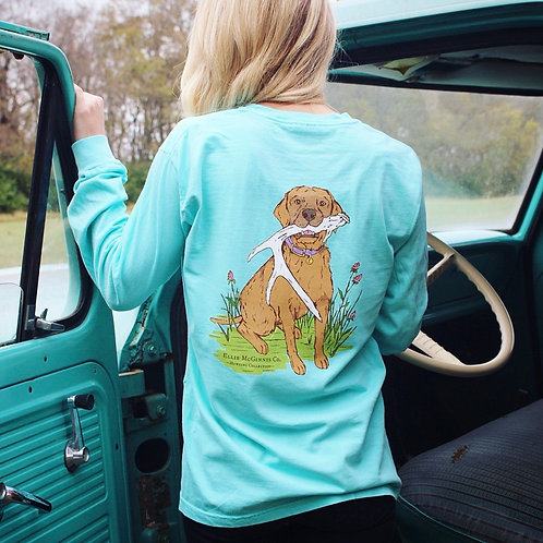 Shed Dog - Long Sleeve on Mint