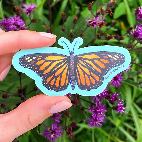 Monarch Butterfly Vinyl Sticker