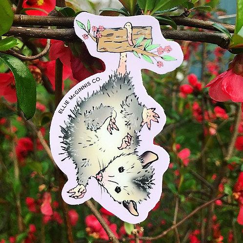 Small Possum Vinyl Sticker