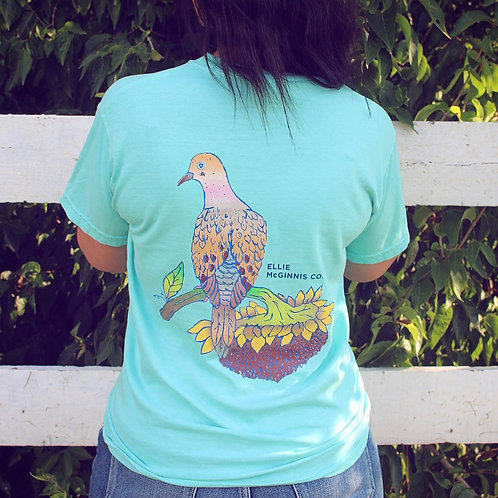 Morning Dove Short Sleeve on Chalky Mint