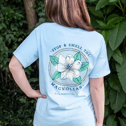 Stop & Smell the Magnolias - Sky Blue
