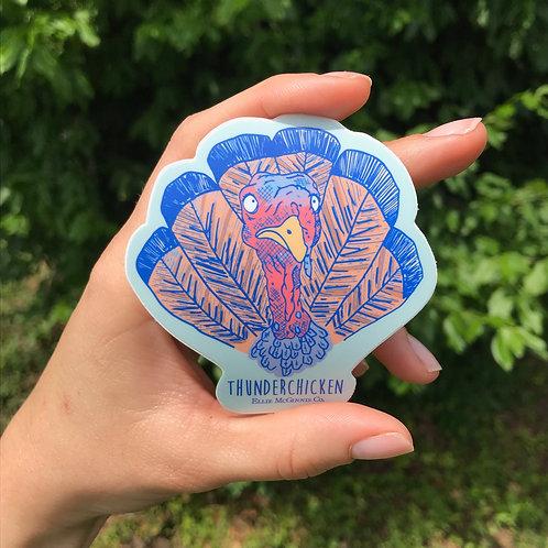 Small Thunderchicken Sticker