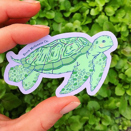 Sea Turtle Small Vinyl Sticker