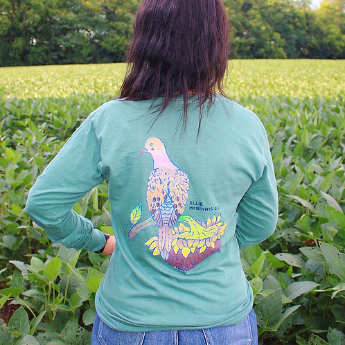 Morning Dove Long Sleeve on Green