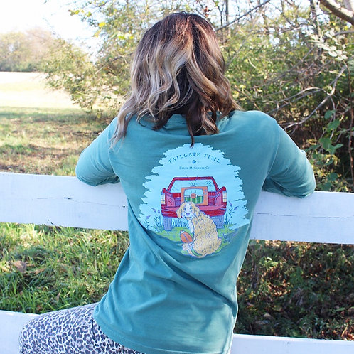 Tailgate Time - Long Sleeve on Green
