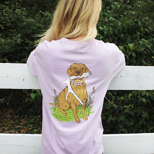 Shed Dog - Long Sleeve on Orchid