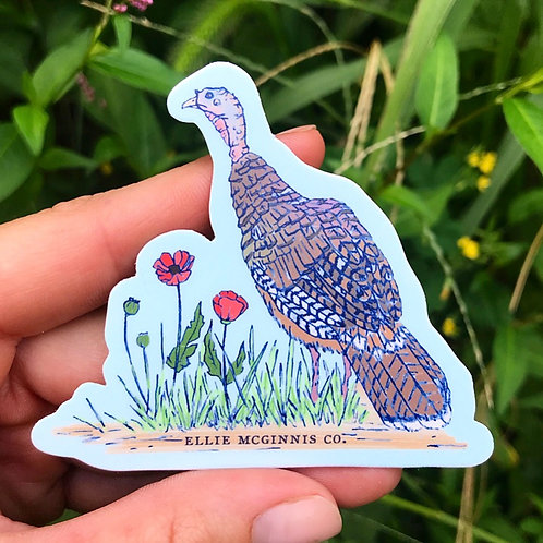 Small Turkey Hen Sticker