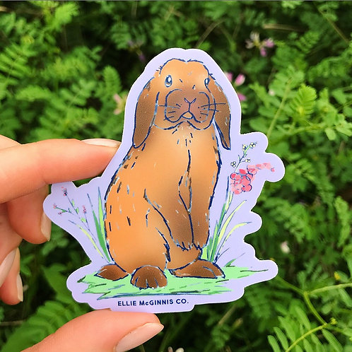 Holland Lop Vinyl Sticker