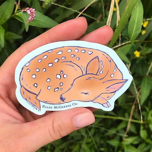 Small Deer Fawn Sticker