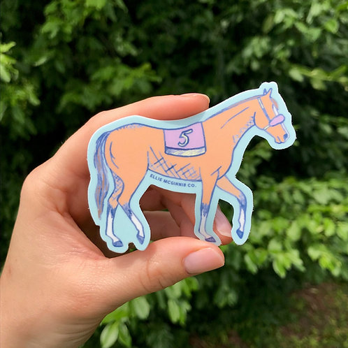 Small Race Horse Sticker
