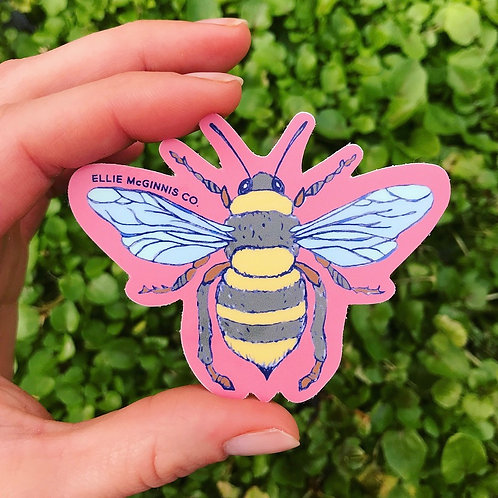 Bee Small Vinyl Sticker