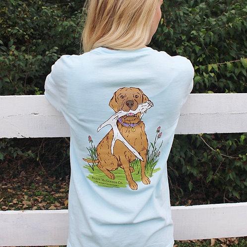 Shed Dog - Long Sleeve on Sky Blue