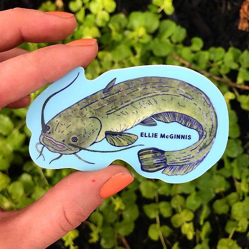 Catfish Vinyl Sticker
