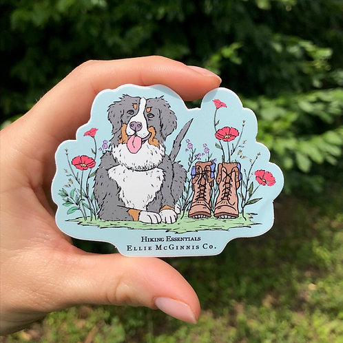 Small Hiking Essentials Sticker