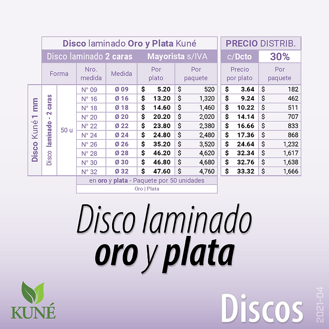 Disco laminado oro y plata - Bandeja pesada Aitana - Plato premium Kuné - cartón
