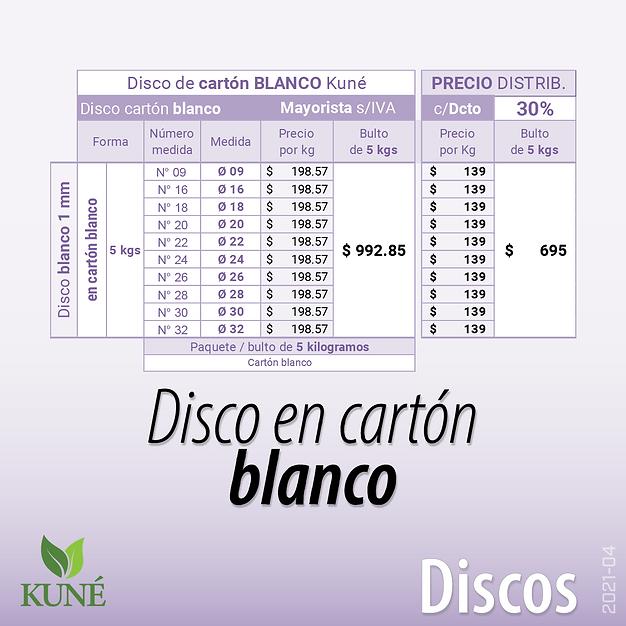 Disco de Cartón Blanco - bandeja pesada Aitana - Plato premium Kuné - Papelera - Fábrica