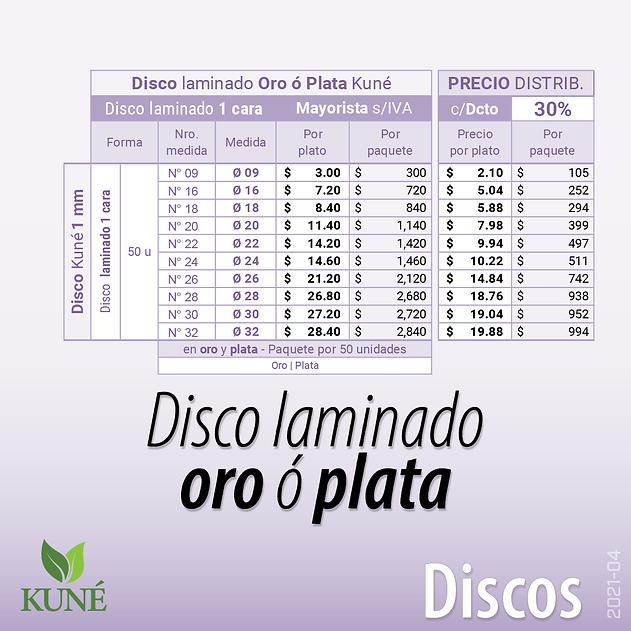 Discos de cartón laminado oro plata Bandeja pesada Aitana Papelera Plato premium Kuné