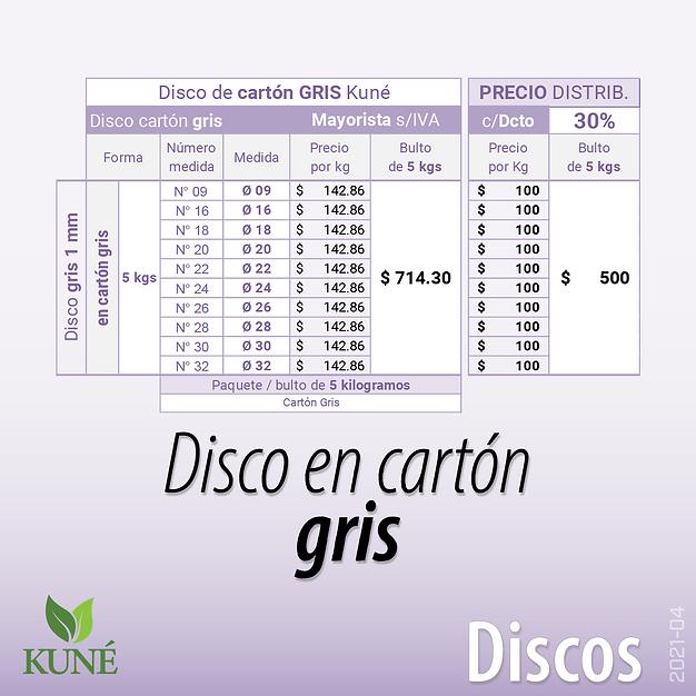 Disco de Cartón Gris Papelera Aitana Bandeja pesada Aitana Plato premium Kuné