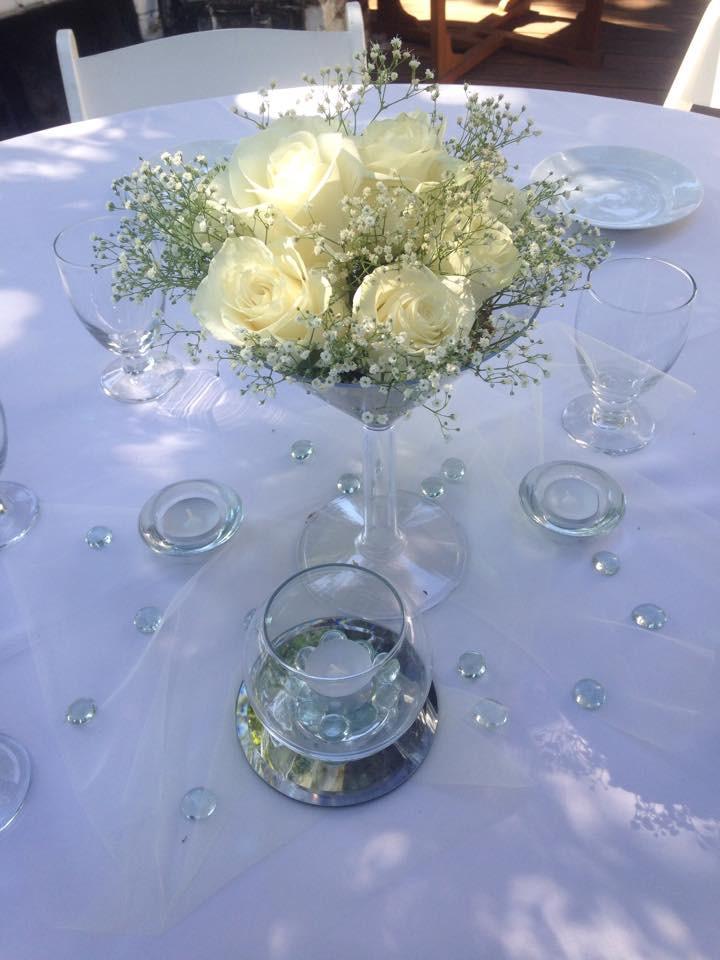 Simple, elegant white wedding