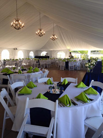 Blue & green golf course wedding