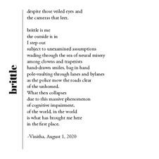 brittle | Vinitha