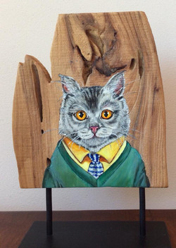 Groundhog Cat 24 x 25 cm