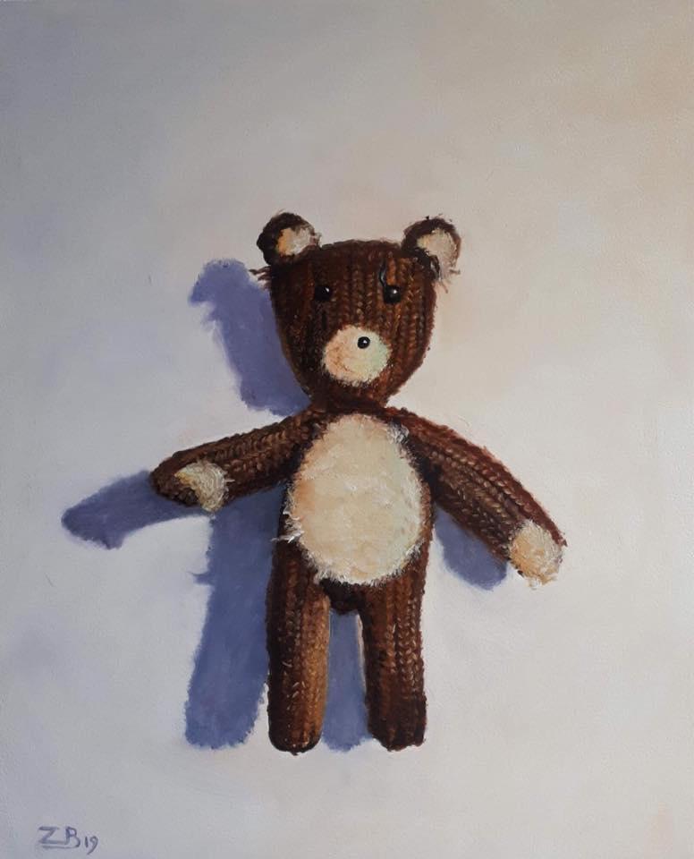 My bear 30 x 25 cm oil on panel