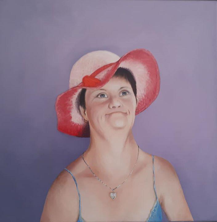 My sister 60 x 60 cm oil on canvas