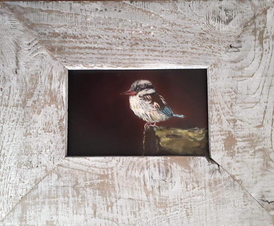 Kingfisher 30 x 18 cm without frame