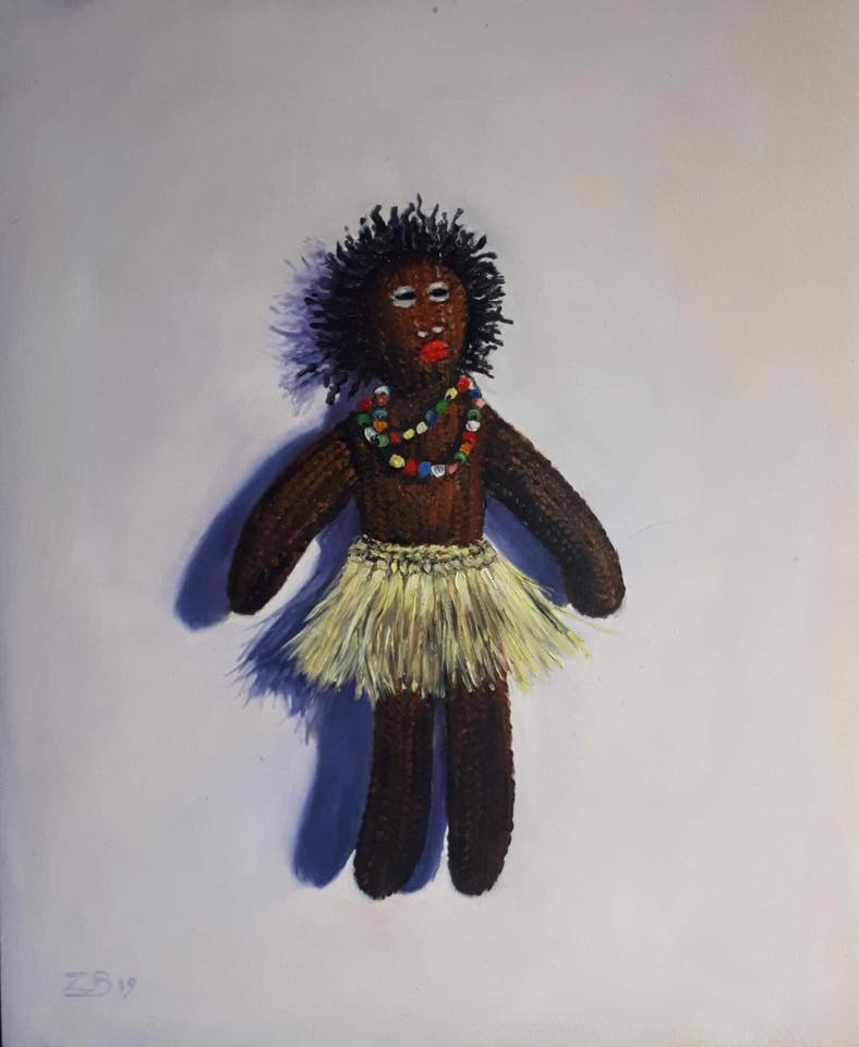 My doll 30 x 25 cm oil on panel