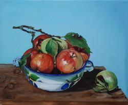 Appels from Santovka 30 x 25 cm oil on c