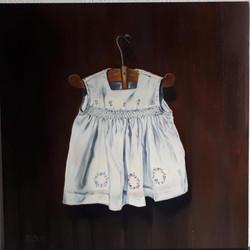 My dress 30 x 30 cm oil on panel