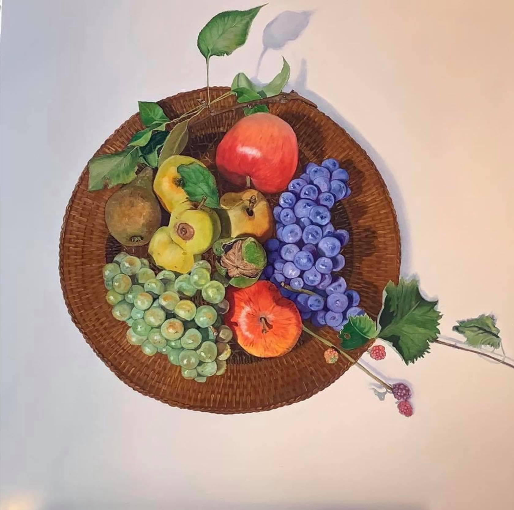 Vitamins 75 x 75 cm oil on panel
