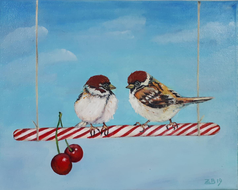 Sweet talk 30 x 25 cm oil on canvas