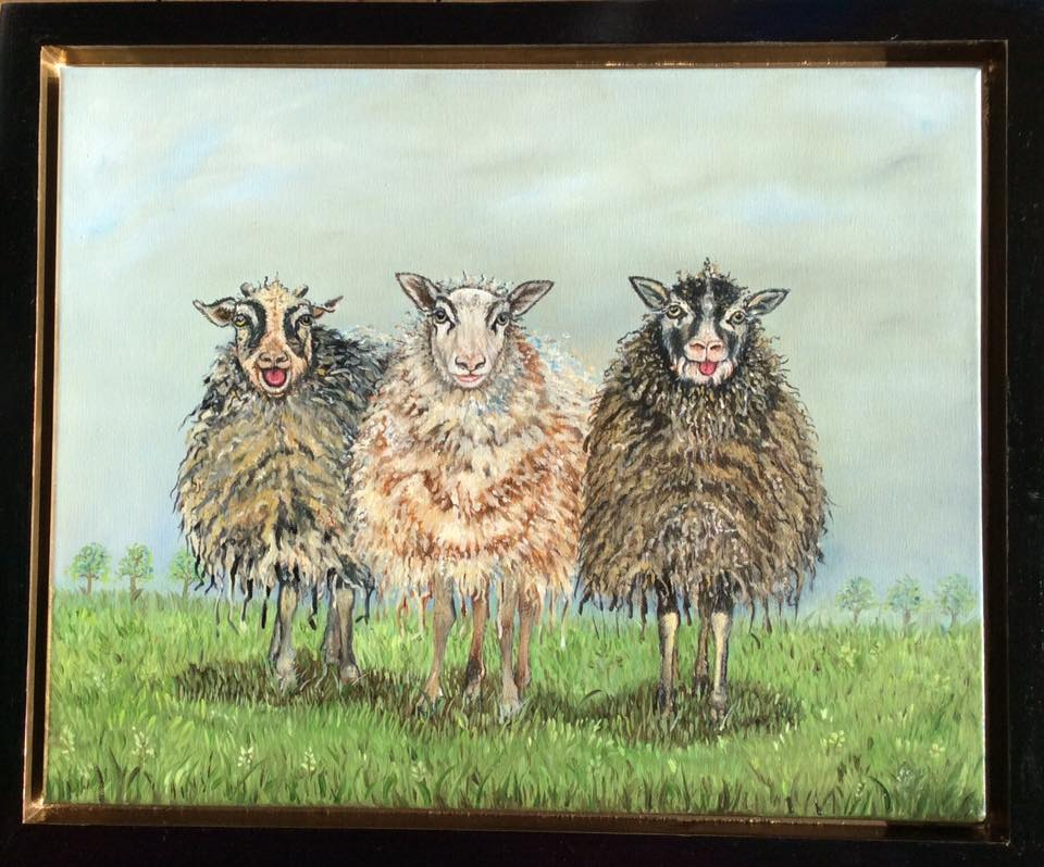 Three in a row 40 x 50 oil on canvas