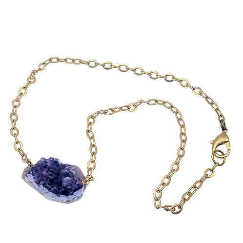 Raw Amethyst Necklace/Bracelet