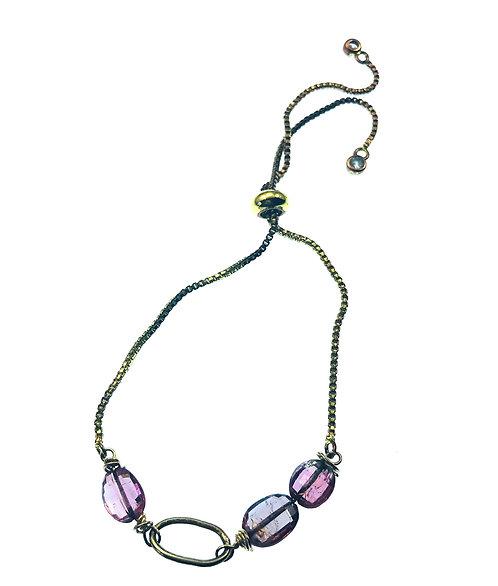 Tourmaline Bracelet on Box Chain