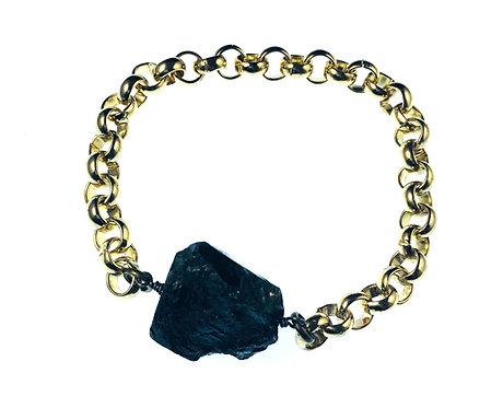Raw Tourmaline Bracelet