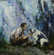 Marlon Brando + his dog