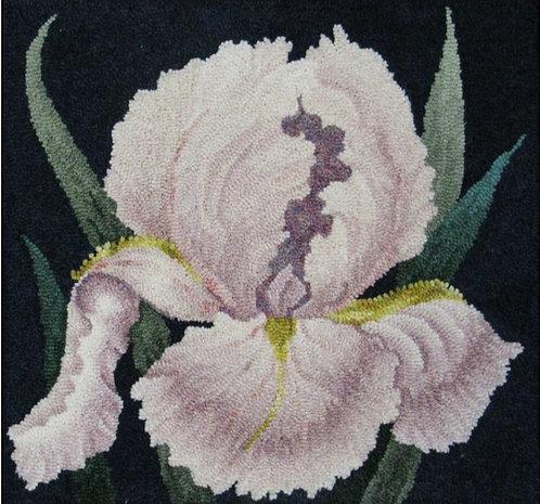 Iris a la O'Keefe Honey Beehive Designs