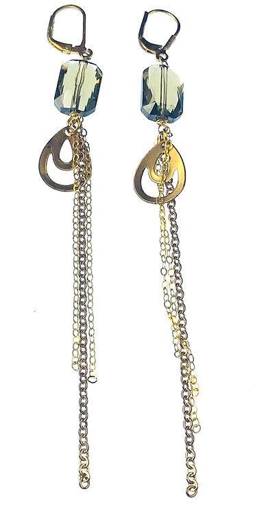 Bronze Earrings w/ Swarovski Stones