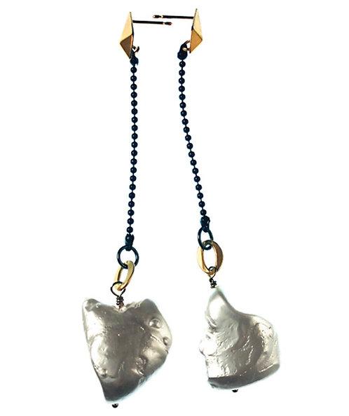 Fresh Water Keshi Pearl Earrings