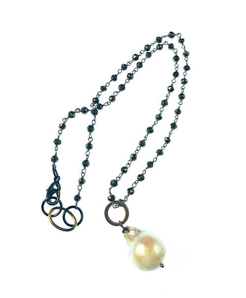 Pearl + Gemstone Necklace