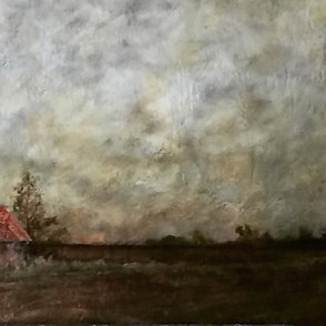 Landscape with shack