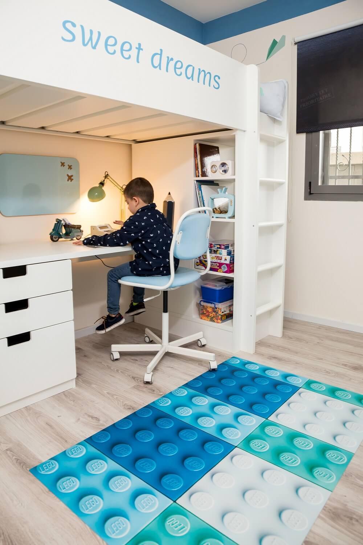 חדר ילדים מעוצב ופרקטי לחלל קטן