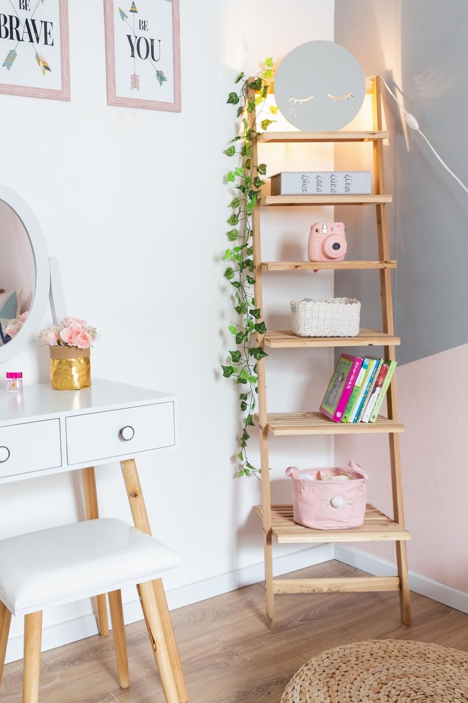 חדר לילדה בעיצוב גאומטרי