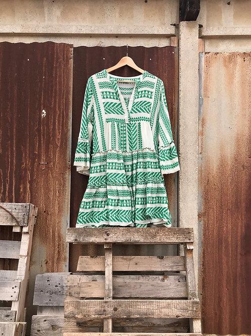 שמלה יוונית ירוקה DEVOTION TWINS