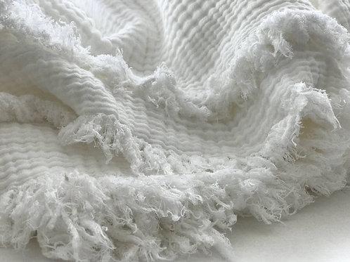 כיסוי מיטה בד טטרה לבן DREAM